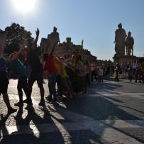 Italy   Rome   All in the Capitol for the final flash mob